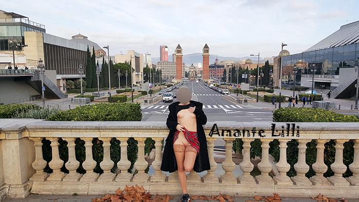 Vue sur l'Avinguda de la Reina Maria Cristina et les tours